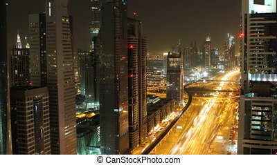 dubai city skyline at night timelapse.mov - timelapse of...