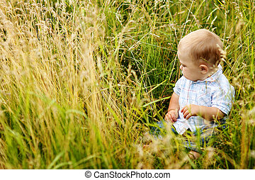 child in nature