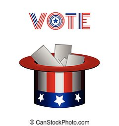 Election day - Isolated american hat on white background,...