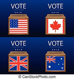 Election day - Set of election day graphic designs, Vector...