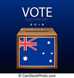 Election day - Isolated Election day box on a blue...