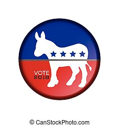 Election day - Isolated democrat election day label, Vector...