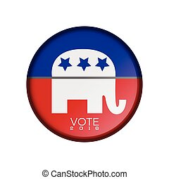 Election day - Isolated republican election day label,...