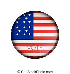 Election day - Isolated american election day label, Vector...