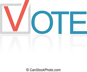 Voting concept picture - The isolated election symbol...