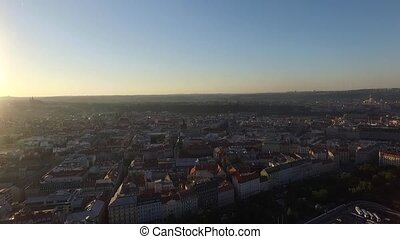 aerial view of the city of Prague
