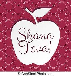 holiday Rosh Hashanah - Greeting card for jewish holiday...