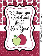 holiday Rosh Hashanah - Greeting card for jewish holiday...