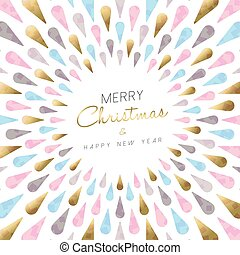 Christmas and new year modern card design - Luxury Merry...