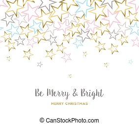 Merry christmas design with gold star decoration - Merry...