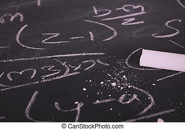 Close up of blackboard for coaching tactics Vintage Retro...