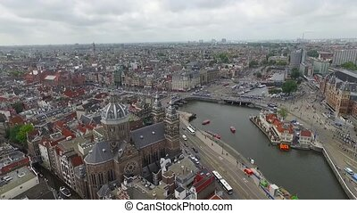 aerial view of the city of amsterdam