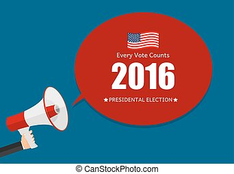 Presidential Election 2016 in USA Background. Can Be Used as Banner or Poster. Vector Illustration