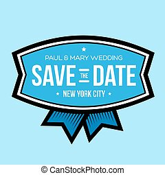 Save the date lettering vintage