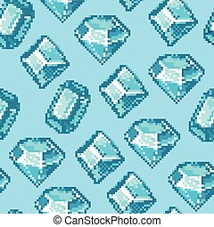 Pixel Diamond Seamless Pattern - Seamless pixel pattern made...
