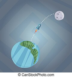 Travelling to Mars illustration