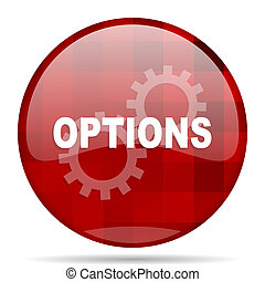 options red round circle glossy modern design web icon -...