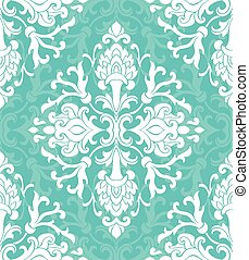Floral turquoise ornament.