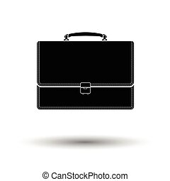 Suitcase icon White background with shadow design Vector...