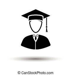 Lawyer man icon. White background with shadow design. Vector...