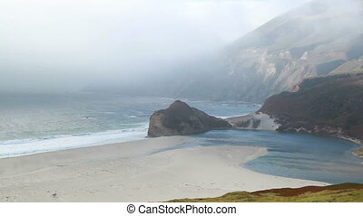 California coast mountain and ocean - PCH highway California...