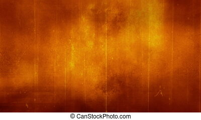 Yellow orange grunge horror texture - Looping animated...