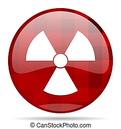 radiation red round circle glossy modern design web icon -...