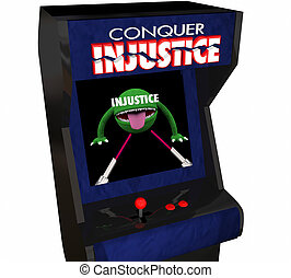Beat Injustice Conquer Unfair Justice System Video Game 3d...