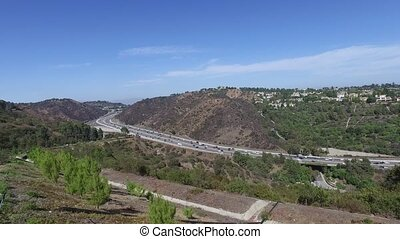 Beautiful views of the 405 freeway Los Angeles California