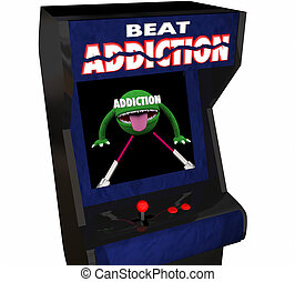 Addiction Fight Drug Alcohol Abuse Video Game Arcade 3d...