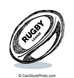 hand drawing rugby ball design vector illustration eps 10