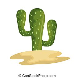 cactus sand icon mexico design vector illustration eps 10