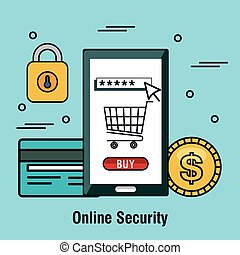 online security buy shop internet graphic