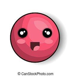 emoji smiling open mouth design vector illustration eps 10