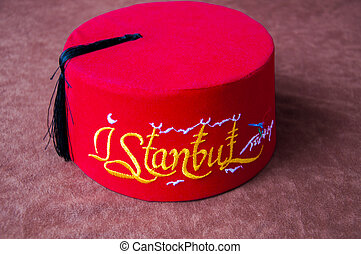 Istanbul Turkish fez with fonts