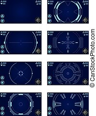 space shooter game - Vector elements for space shooter game...