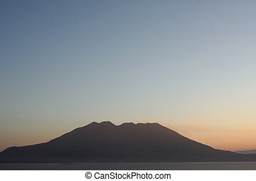 Volcano - The very active volcano Sakurajima in the south of...