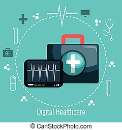 digital healthcare pulse and first aid