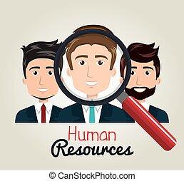 men cartoon human resources search find vector illustration