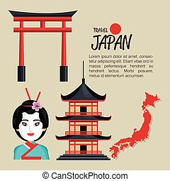 welcome japan symbol traditional design