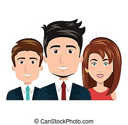 cartoon men and woman happy work team human resources vector...