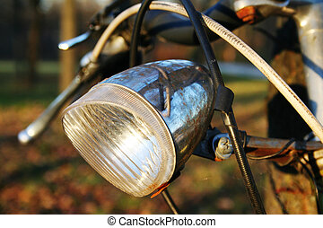 bicyce lamp - Corroded lamp on a very old bicycle. I wonder...
