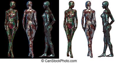 3d render illustration of Female Body