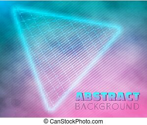 Into The Future Music Abstract Poster Cover 1980s Style...