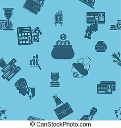 Business and Finance Seamless Pattern Simple and...