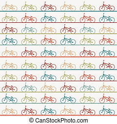Vintage retro bicycle background - Vintage retro cartoon...