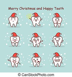 merry christmas and happy teeth