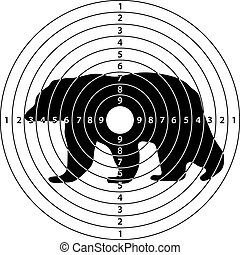 bear target shooting from a pneumatic or a firearm in the...