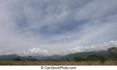 Rincon de La Vieja - Time lapse fast clouds over Mountains...