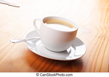 cup of coffee showing cafe or drink concept